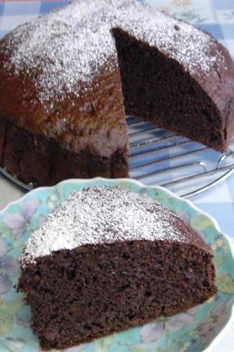 Easy No-Oil Added Okara Chocolate Cake