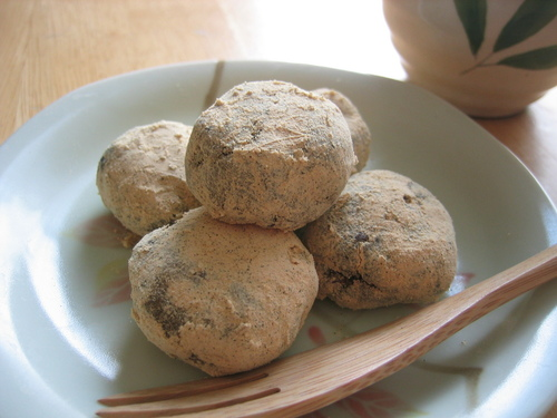 Adzuki and Kinako Soy Powder Dango with Okara
