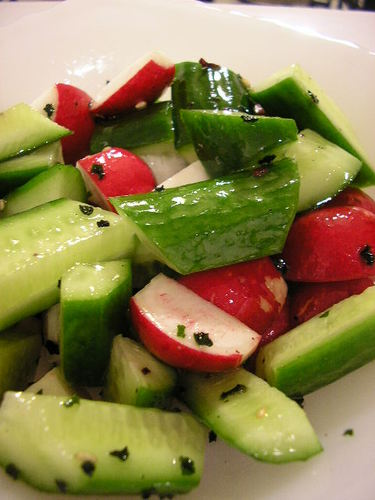 Crunchy Cucumber and Radish Salad