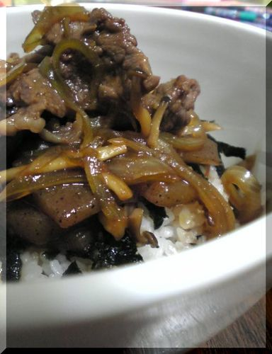 Beef Rice Bowl With Yuzu Pepper Paste