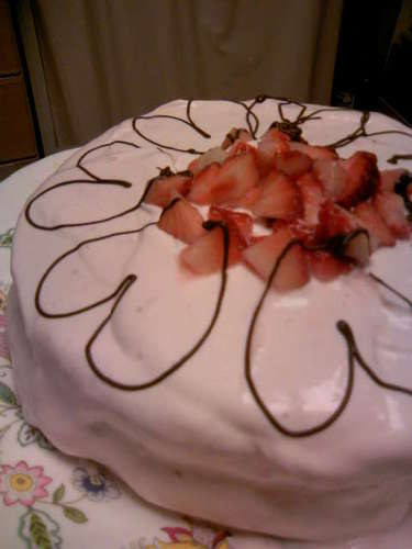 Strawberry Cream (To Ice a Cake)