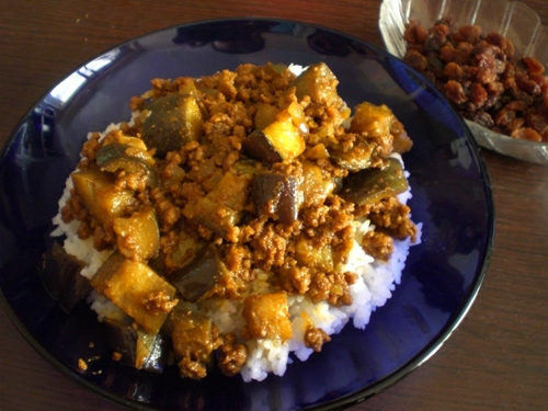 Dry Eggplant Curry for Adults
