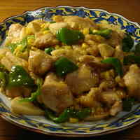 Tender Stir-fried Bamboo Shoot and Chicken