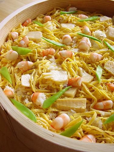Bamboo Shoot and Shrimp Chirashi Sushi