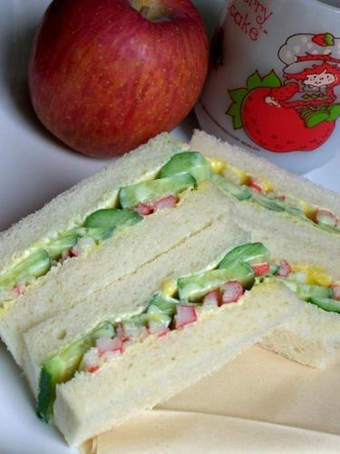 Crab Stick and Cucumber Sandwiches