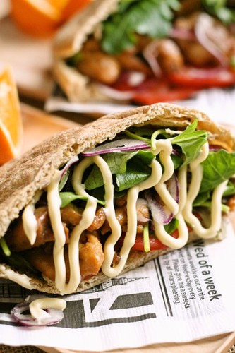 Teriyaki Chicken Pita Pocket Sandwich