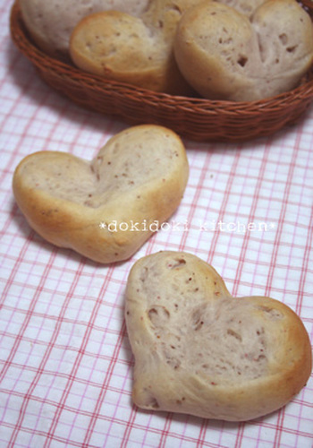 Heart-shaped Strawberry Milky Bread In a Bread Machine