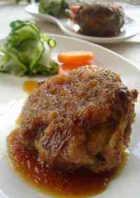 Layered Beef and Potato Hamburger Steak