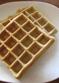 Easy Okara Cinnamon Waffles