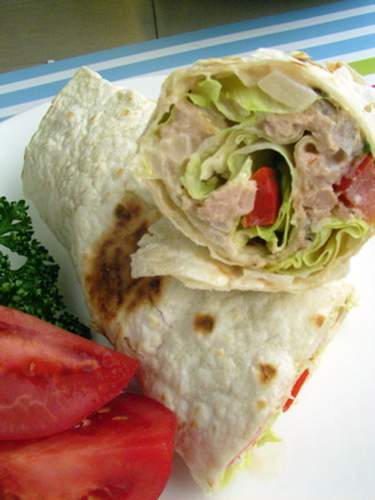 Sweet Onion & Tuna Wrap Sandwich