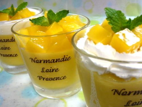 Mango Yogurt Pudding with Kanten!