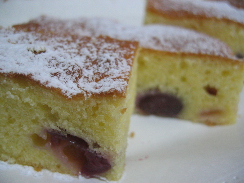 Limited-Season Sweet Cherry Cake