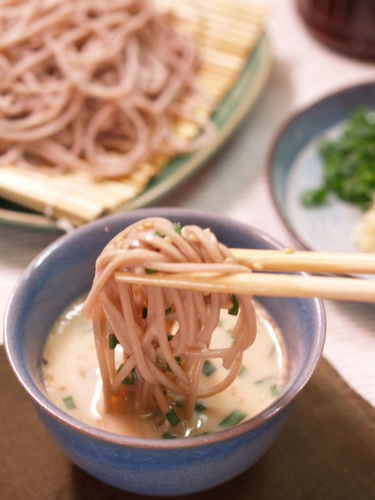 Cold Soba Noodles with Soy Milk Sauce