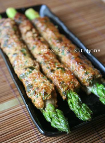 Izakaya-Style Asparagus Wrapped in Ground Pork