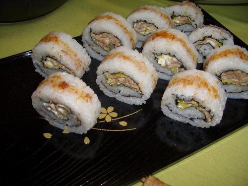 Ginger Pork Sushi Rolls