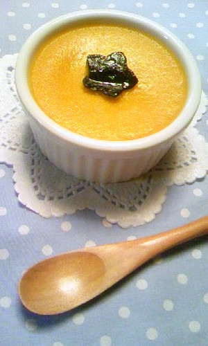 Moist & Smooth Thick Kabocha Squash Custard Pudding