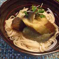 Cold Eggplant and Somen Noodle Bowl