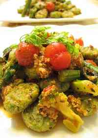 Okara Gnocchi with Tomato and Basil Sauce