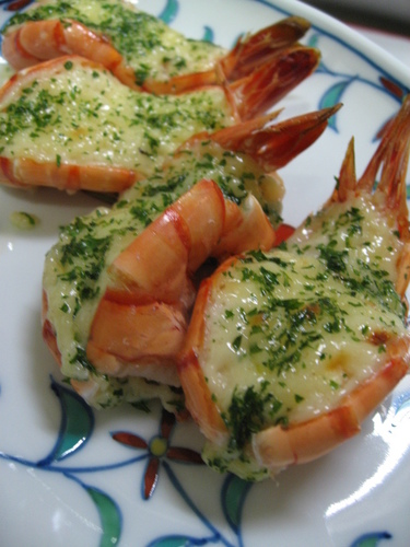 Grilled Shrimp With Mayonnaise Made in an Oven