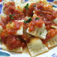 Potato Ravioli In Tomato Sauce