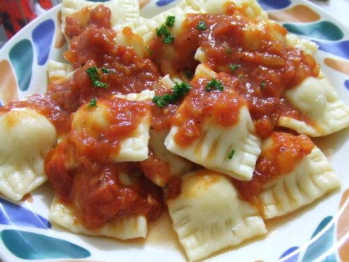 Potato Ravioli In Tomato Sauce