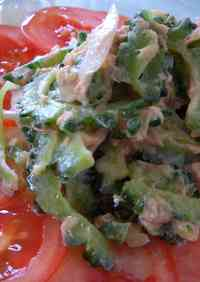 Bitter Melon and Tuna Salad with Spicy Mayonnaise