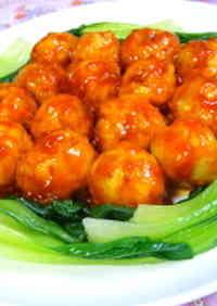 Shrimp-Chicken Meatballs in Chili Sauce