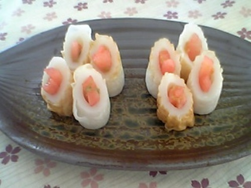 Bite-Size Appetizers - Watermelon Stuffed Chikuwa
