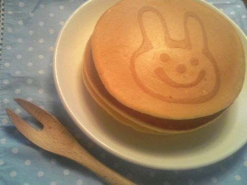 Fluffy Pancakes with Drawings