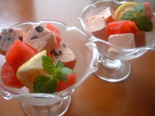 Cubed Watermelon Parfait ♪