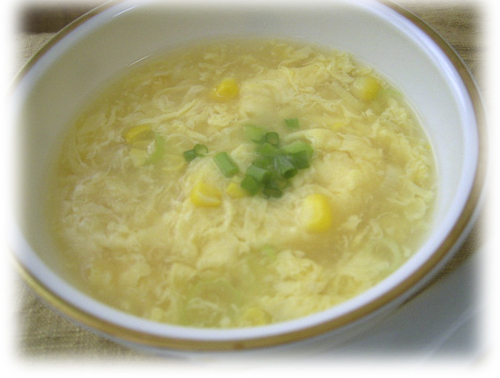 Chinese Egg-drop Soup with Corn