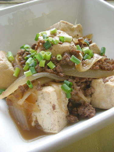 Richly Seasoned Tofu with Minced Meat