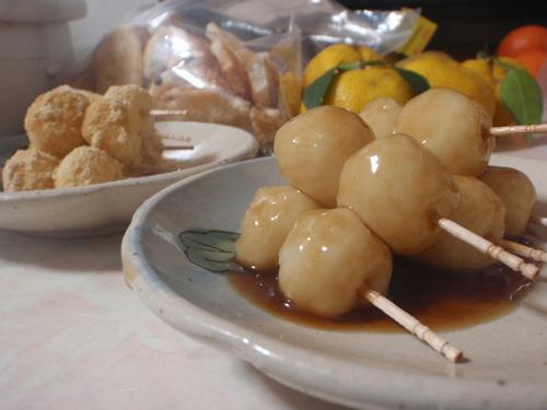 Make Mitarashi Dango Dumplings with Mashed Leftover Rice