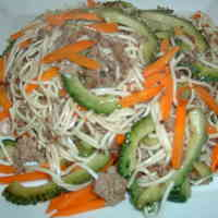 Goya Champuruu - Okinawan Bitter Melon Stir-Fry with Somen Noodles