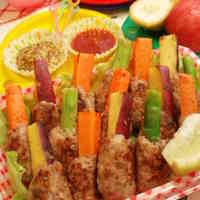 Hamburger Steak Sticks Shaped Like Horsetails