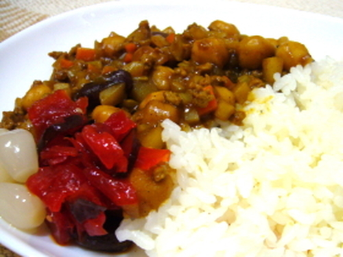 Quick Dry Curry Starring Beans