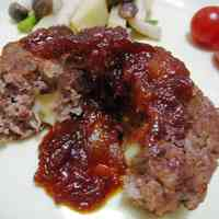 Cheesey Hamburgers with Mild Onion Sauce