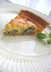 Flaky and Fluffy Gorgonzola Quiche