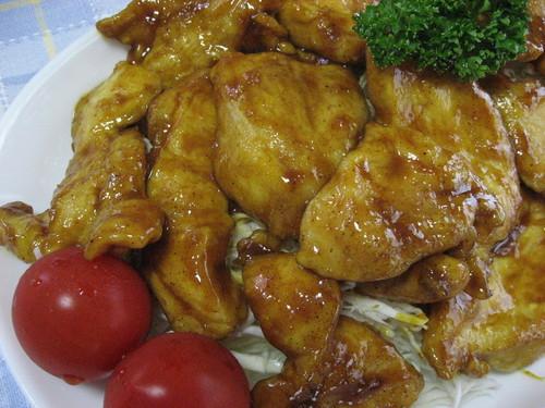 Tender Curried Teriyaki Chicken Breast