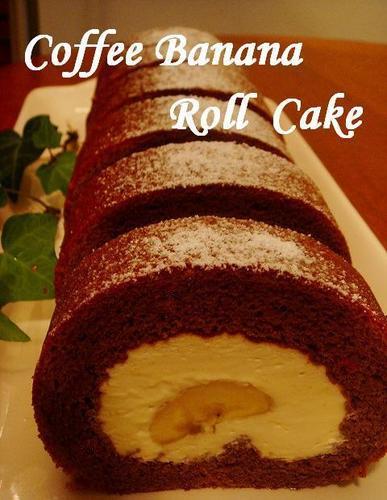 Coffee & Banana Roll Cake