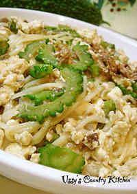 Bitter Melon and Somen Noodle Okinawan Stir Fry