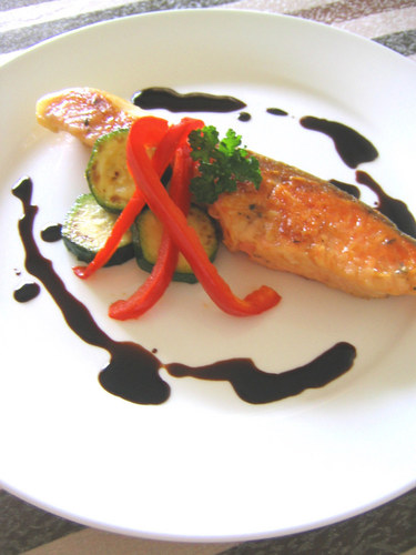 Salmon Meunière with Balsamic Sauce