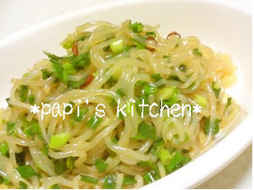 Packed with Green Onions! Spicy Stir Fried Shirataki Noodles