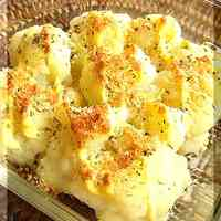 Grilled Cauliflower with Herbs & Cheese