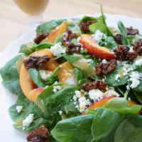 Spinach & Nectarine Salad
