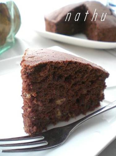 Oil-Free Chocolate Banana Cake