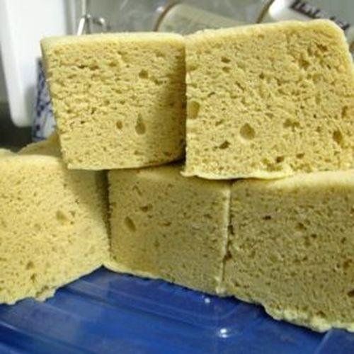 Steamed Okara Powder Bread with Microwave
