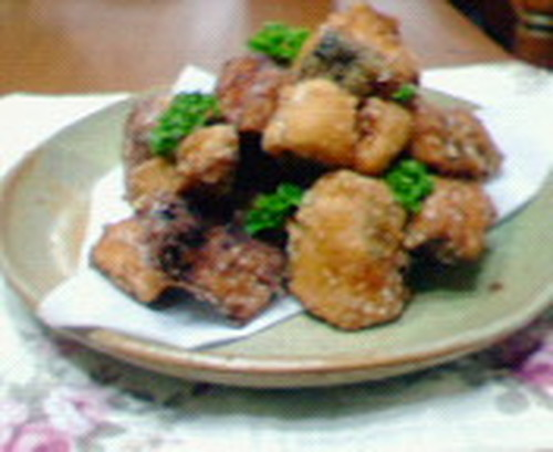 Salmon Zangi (Deep Fried Salmon)