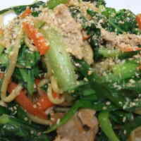 Awesome Stir-Fried Noodles with Ginger, Garlic and Soy Sauce