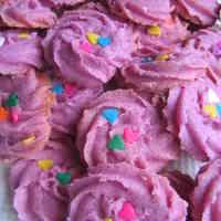 Purple Sweet Potato Spritz Cookies